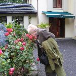  Smelling the roses outside &quot;the Lodge&quot;