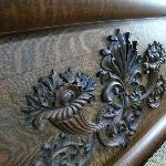  carved bedstead
