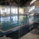 Large indoor pool and 2 hot tubs.