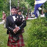 Bagpiper at Open House