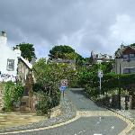 The Brae North Queensferry, A steep walk up to the station