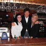  Suela,Maurizio and Monica at the Bar