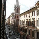  The view of Via del Babuino from our window