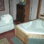  This is the Jacuzzi tub.  Very comfy for two an I am 6 foot 8!  Taken right before we left so be