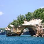  View of arch from Pictured Rock Cruises boat