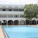 main building and swimming pool