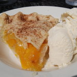 homemade peach pie