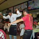 Dancing waiters