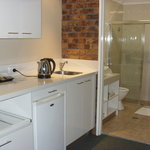 Kitchen with bathroom