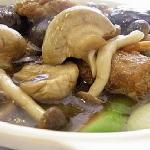 Braised Fresh Mushroom with Sugar Cane Flower @ S$18+