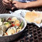 Clams and Homemade Bread