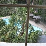 View of pool from sitting room window