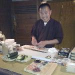 look at this big smile from the great chef keita abe