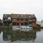  The cottage taken from across the River Bure