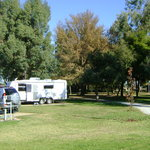 Spacious caravan sites in beautiful park setting