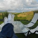 Kicking back to the view