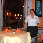  One of our friendly wait staff at Pedro y Lolas at the Plaza Machado