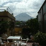 The view of El Misti from the patio
