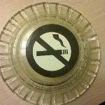 The non-smoking ashtray