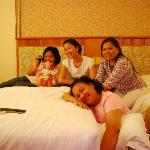  At Cherry Hotel with friends