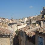 View of village rooftops from Moulin