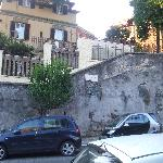 the corner of delle medaglie d'oro (the physical street of the hotel) and c.nepote (side street)