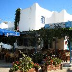 The Argo Taverna, surrounded by its restaurant