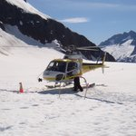 Copter on Glacier
