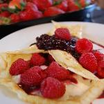 One of our many delicious Breakfast options - Berry Crepes