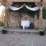 simple and romantic for us in the wedding garden