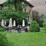 the outdoor cafe and garden