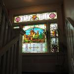 Original stained glass on the landing