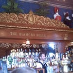 The bar at the Diamond Belle.