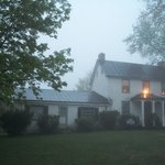 Front of the house (foggy night)