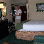 my husband modeling our laptop and the surroundings
