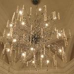 chandelier in entrance