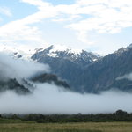  View of Franz Josef Glacier from Franz Josef Villas