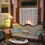 victorian sitting room at the Trimmer
