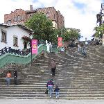 The stair climb to get up to Cuenca from Villa Nova Inn