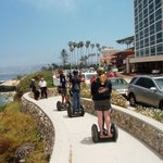 Segwaying along the coast next to ocean in La Jolla