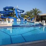 the waterslides at the hotel