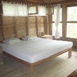 One of the bedrooms, open and spacious