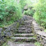 the steep steps of the trail