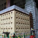  Lego model of the Clarendon in the lobby