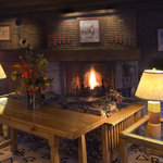 Gather in our Fireside Room