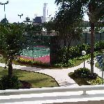 Tennis Court with Chapel View