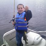 His first catch of the day