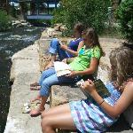 reading by the creek in Breck.