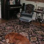 Jake greets you in the front parlor (and yes, you can play the piano if you like)!