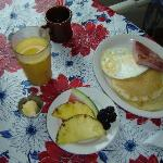 Breakfast was included in the room rate---which was about $60